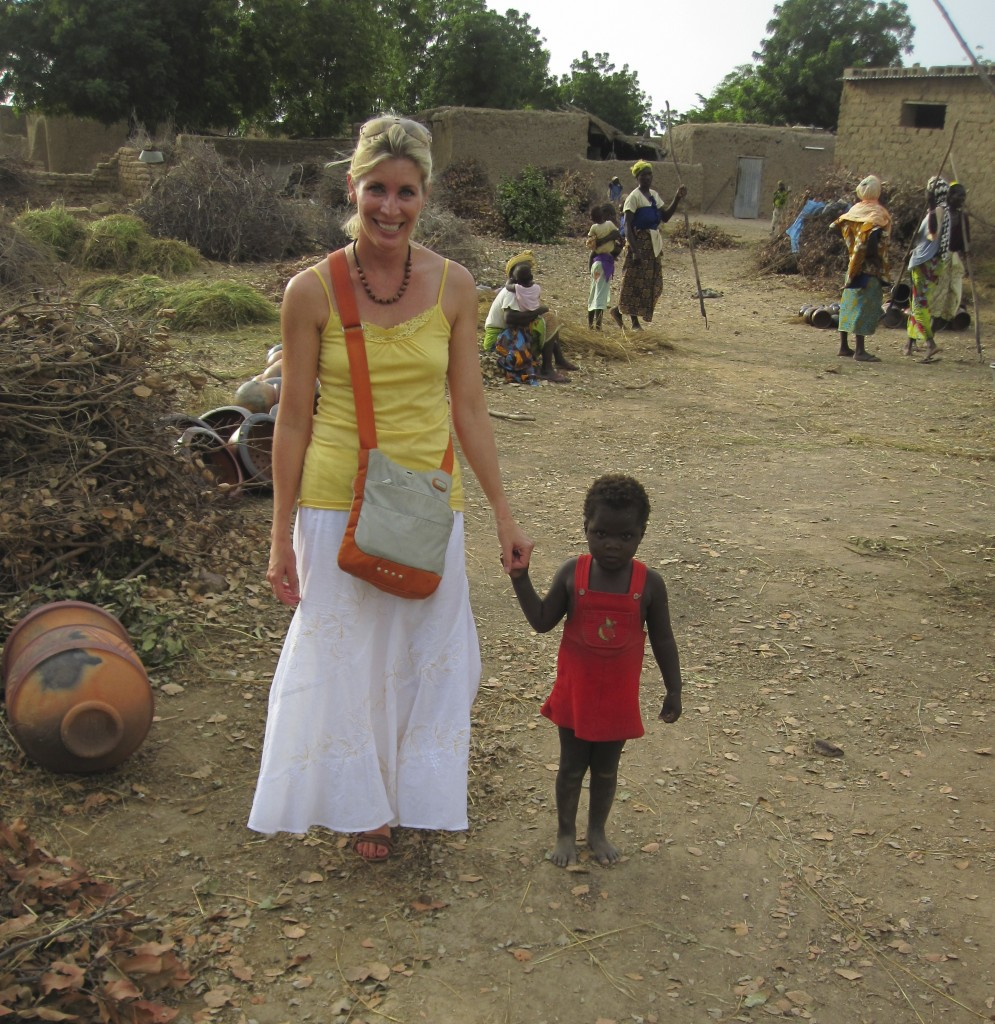 Jen and little girl from Mali