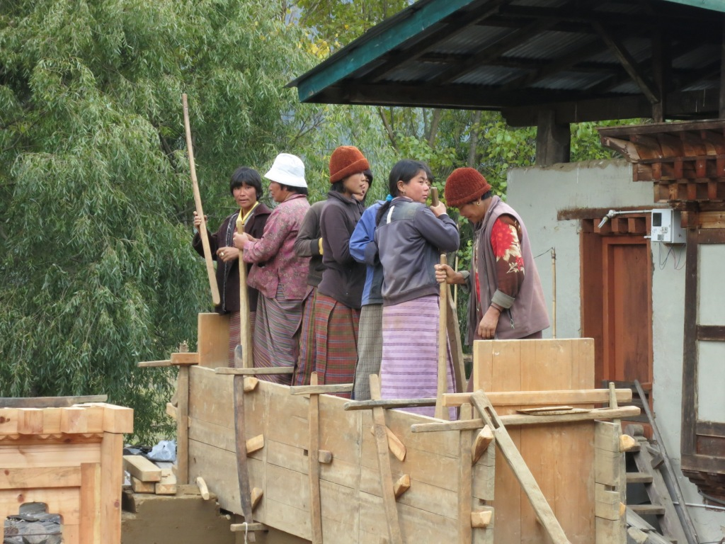 Building a House in rural Bhutan