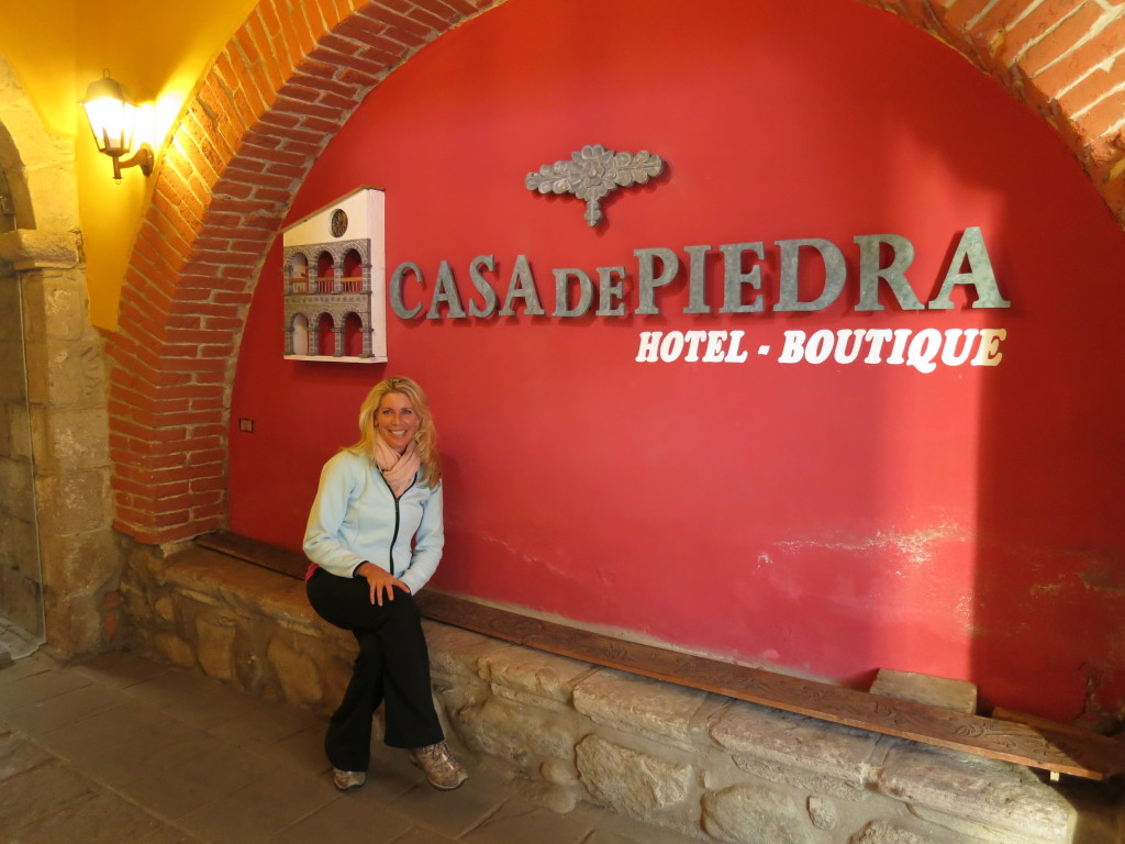 Jen at Casa de Piedra in La Paz
